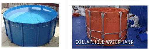 Collapsible tank for storing water